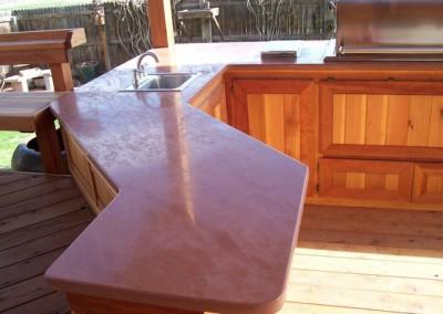 sandstone kitchenette